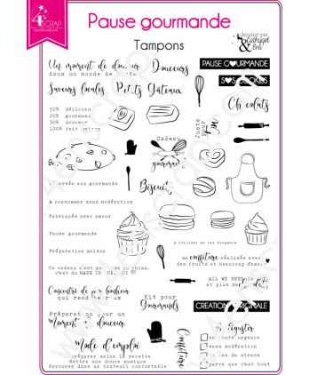 Clear Stamp Scrapbooking Card making book cake receipe - Gourmet break