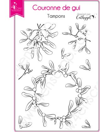 Clear Stamp Scrapbooking Card making foliage christmas - mistltoe crown