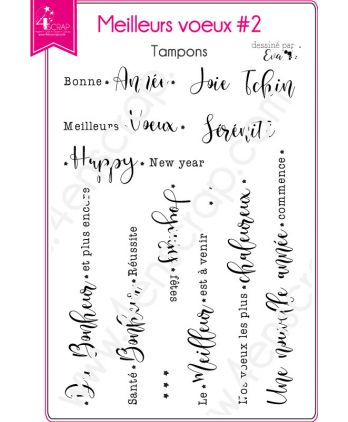 Clear Stamp Scrapbooking Card making word - Happy new year