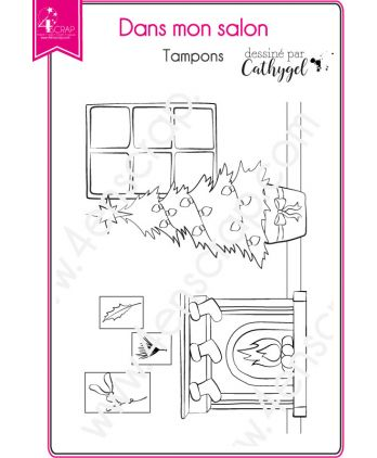 Clear Stamp Scrapbooking Card making christmas winter - In my living room