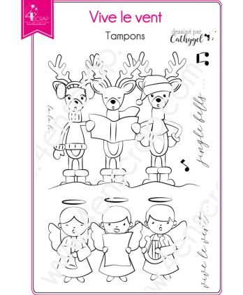Clear Stamp Scrapbooking Card making reindeer christmas - Jingle bells