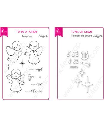 Cutting die Clear Stamp Scrapbooking Card making christmas - You're an angel
