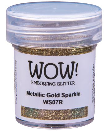 Heat embossing powder scrapbooking card making - Metallic gold sparkle