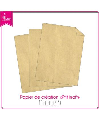Plain paper scrapbboking card making - Small Kraft 10 sheets