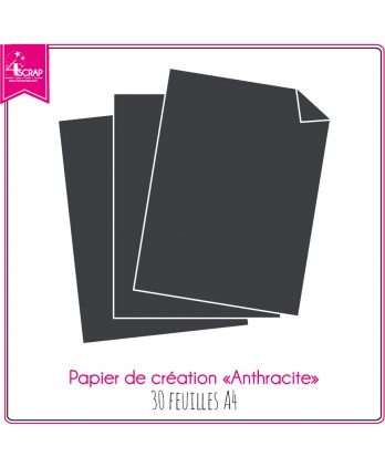 Anthracite gray Paper - 30 sheets