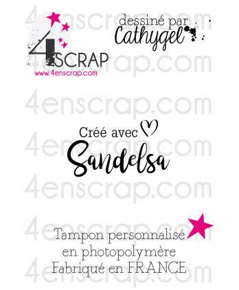 "Rubber customized stamp Scrapbooking Card Making - Signature ""Sandelsa"""