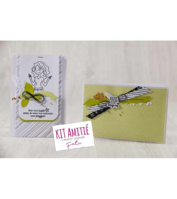 Kit Scrapbooking Carterie carte ami scrap - Amitié
