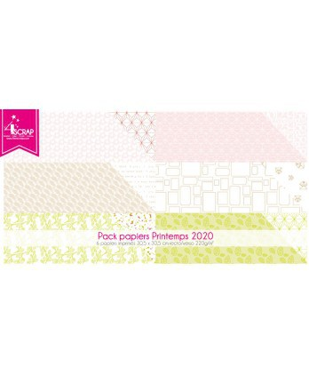 Pack Papier Imprimé Scrapbooking Carterie - Printemps 2020