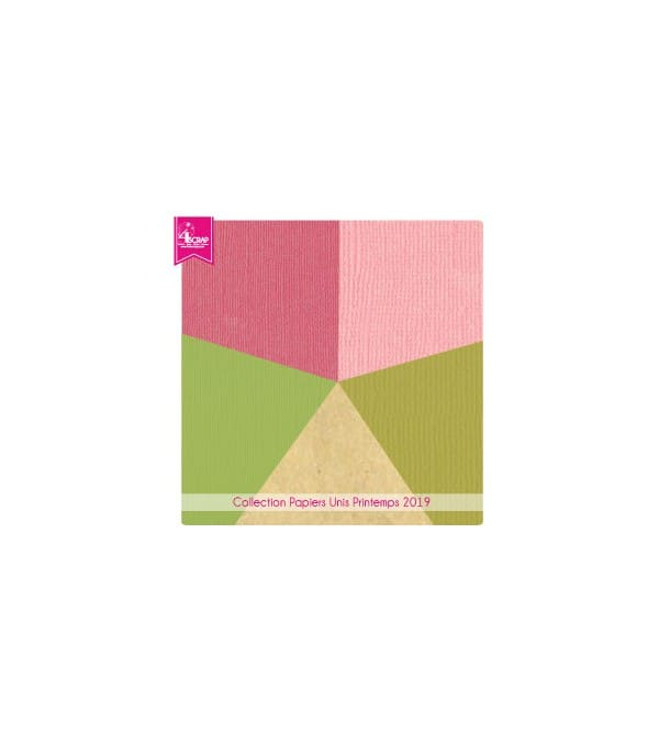 Pack Papier Uni Scrapbooking Carterie - Printemps 2020