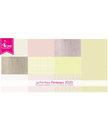 Printed Paper Scrapbooking Card Pack - Spring 2020