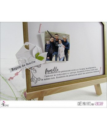 Clear stamp Scrapbooking Card making happiness - Family spirit