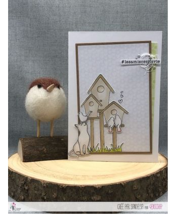 Clear stamp Scrapbooking Card making nature bird - Happiness song