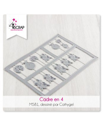 Cutting die Scrapbooking Card Making - Frame in 4