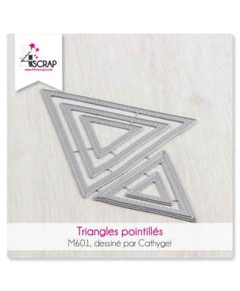 Matrice de coupe Scrapbooking Carterie -Triangles pointillés