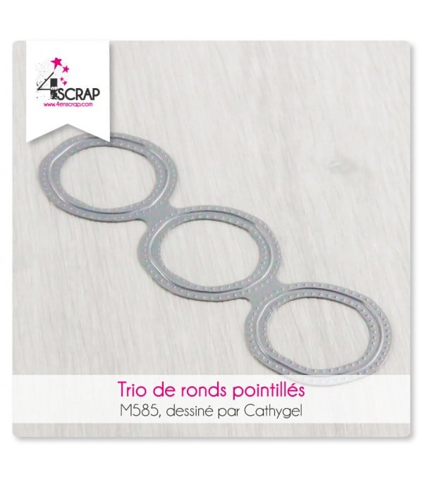 Matrice de coupe Scrapbooking Carterie - Trio de ronds pointillés