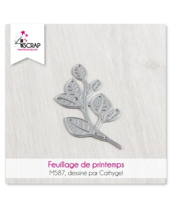 Matrice de coupe Scrapbooking Carterie nature - Feuillage de printemps