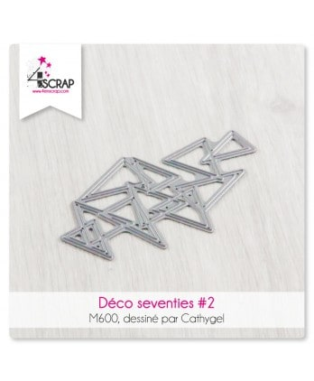 Cutting die Scrapbooking Card Making shape - seventies deco