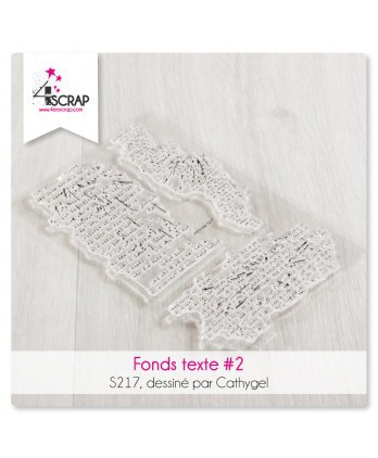 Tampon transparent Scrapbooking Carterie lettres tâches - Fonds texte 2