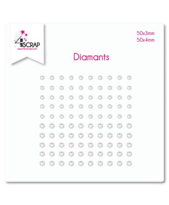 Embellissement Scrapbooking Carterie autocollant - Diamants