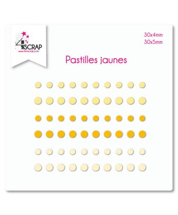 Embellishment Scrapbooking Card making Sticker - Yellow dots