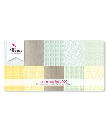 Printed Paper Scrapbooking Card Pack - Summer 2020