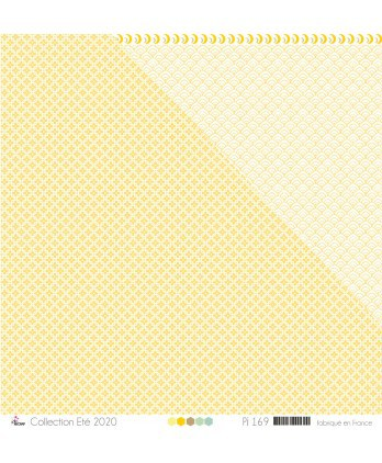 "Printed Paper Scrapbooking Card Making - ""honey ciment tiles on light yellow background """