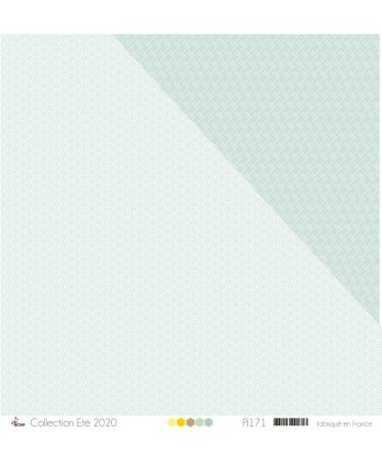 "Printed Paper Scrapbooking Card Making - ""Mint greek patterns on white background"""