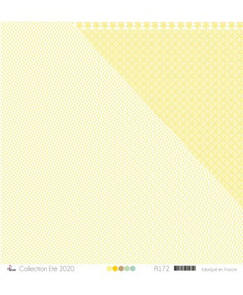 "Printed Paper Scrapbooking Card Making - ""Yellow oriental patterns on white background"""