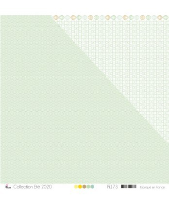 """Printed Paper Scrapbooking Card Making - """"Mint Asian patterns on white background"""""""