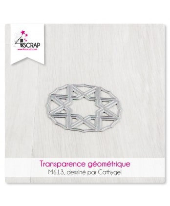Cutting die Scrapbooking Card Making shape - Geometric Transparency