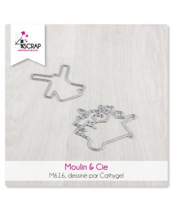 Matrice de coupe Scrapbooking Carterie brouette - Moulin & Cie
