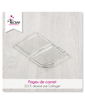 Tampon transparent Scrapbooking Carterie notes - Pages de carnet