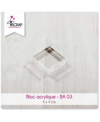 Clear acrylic block Scrapbooking Card Making - Acrylic block 4 cm x 4 cm