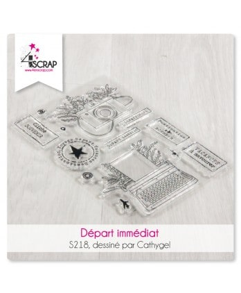 Clear stamp Scrapbooking Card making travel - Imminent departure