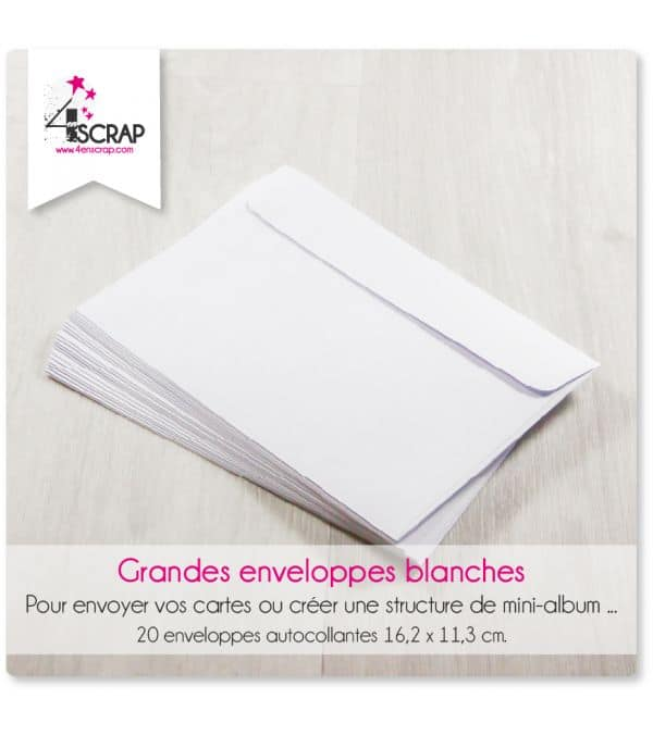 To Customize Scrapbooking Card Making - Big White Envelopes