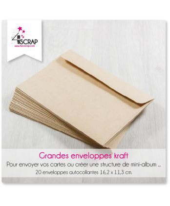 A customiser Scrapbooking Carterie - Grandes enveloppes kraft