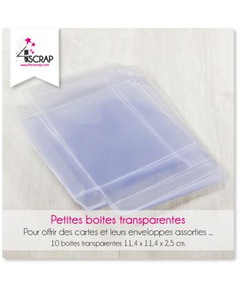 A customiser Scrapbooking Carterie - Petites boites transparentes