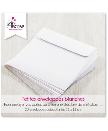 A customiser Scrapbooking Carterie - Petites enveloppes blanches