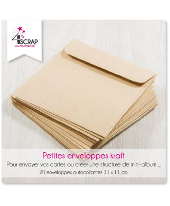 A customiser Scrapbooking Carterie - Petites enveloppes kraft