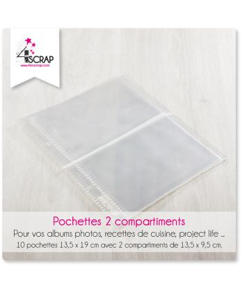 A customiser Scrapbooking Carterie - Pochettes 2 compartiments