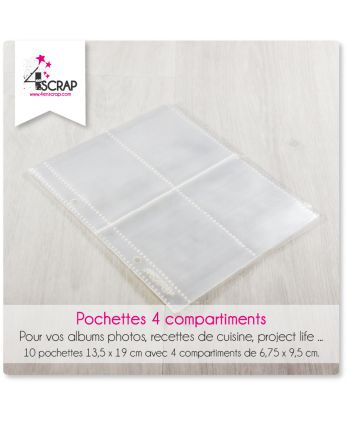 A customiser Scrapbooking Carterie - Pochettes 4 compartiments