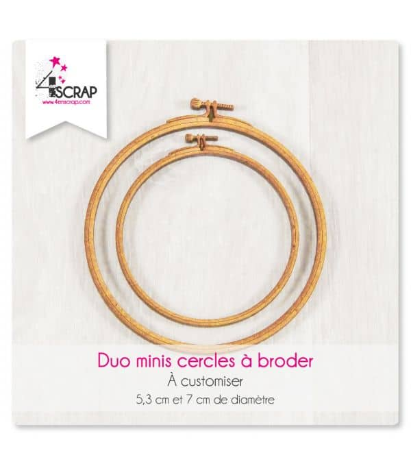 "A customiser Scrapbooking Carterie - DUO MINIS cercles ""A broder"""