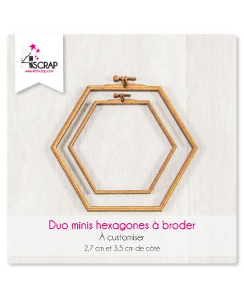 "A customiser Scrapbooking Carterie - DUO MINIS hexagones ""A broder"""
