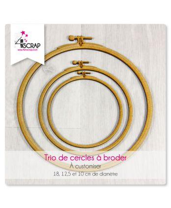 "A customiser Scrapbooking Carterie - TRIO de cercles ""A broder"""