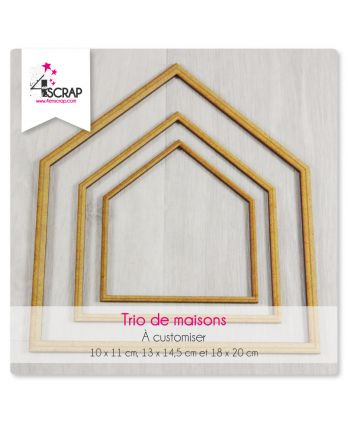 A customiser Scrapbooking Carterie - Trio de maisons