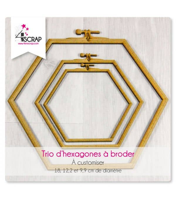 """To Customize Scrapbooking Card Making - Trio """"embroidery"""" hexagons"""