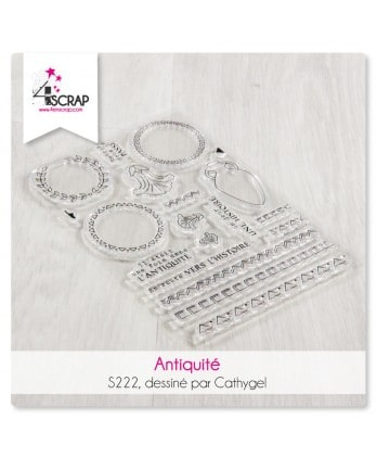 Tampon transparent Scrapbooking Carterie voyage - Antiquité