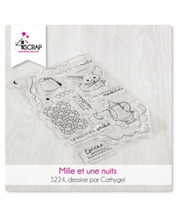 Tampon transparent Scrapbooking Carterie voyage - Mille & une nuits