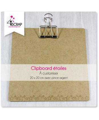 To Customize Scrapbooking Card Making stars - Big square Clipboard