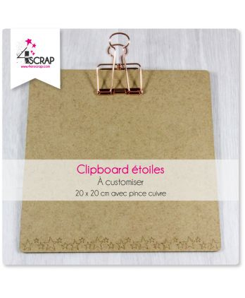 A customiser Scrapbooking Carterie étoiles - Grand clipboard carré